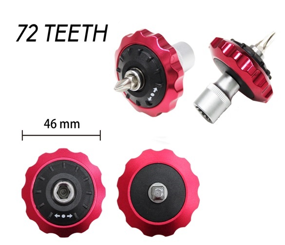 46mm 72 Teeth Double-End Aluminum Handle