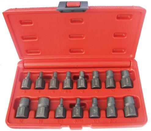 15Pcs Screw Extractor Set