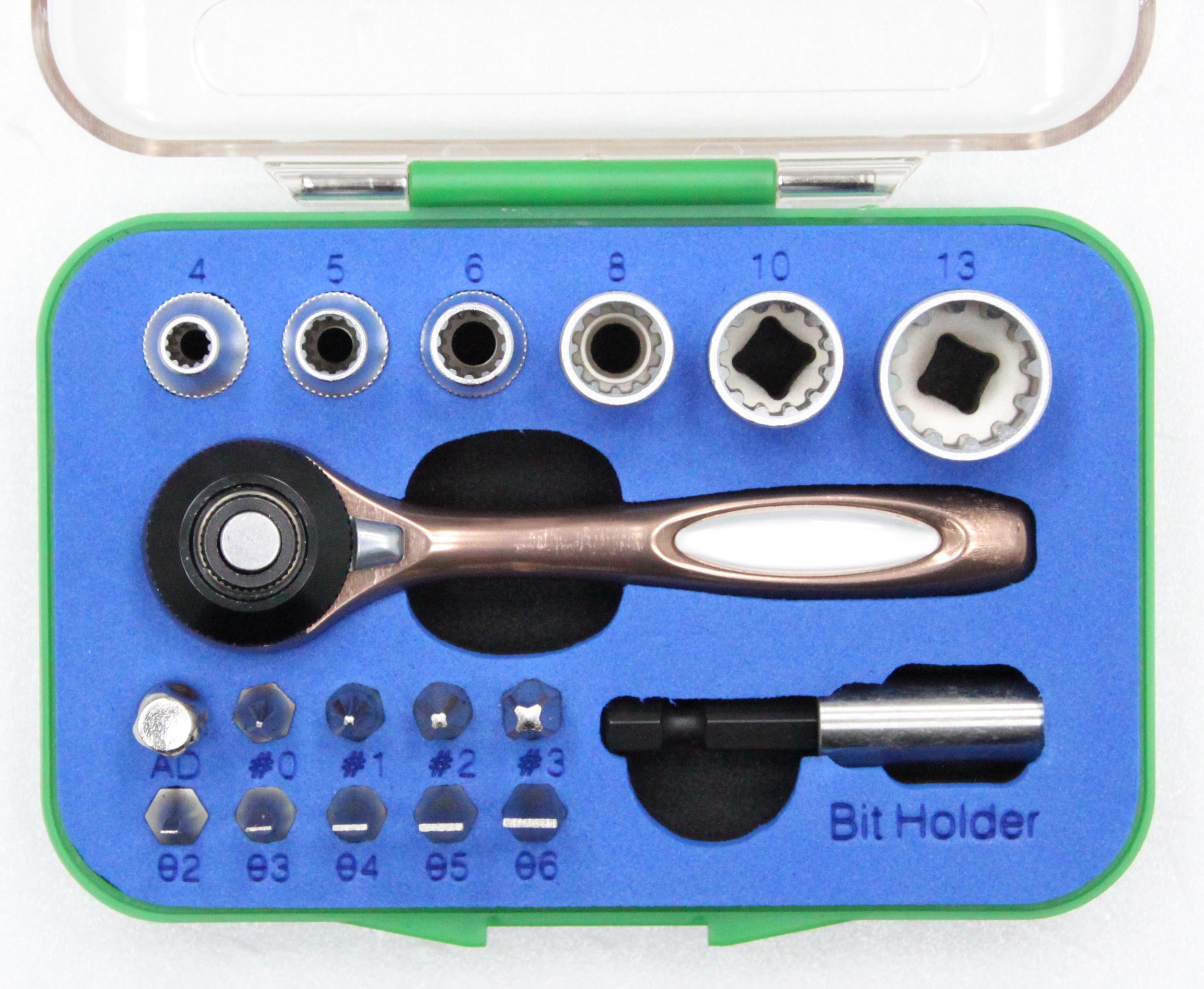 18 PCS Ratchet Tool Set with Disco