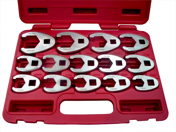 14Pcs Professional Metric Crowfoot Wrench Set