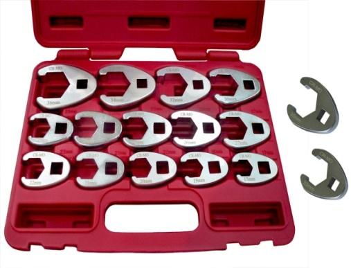 16Pcs Professional Metric Crowfoot Wrench Set