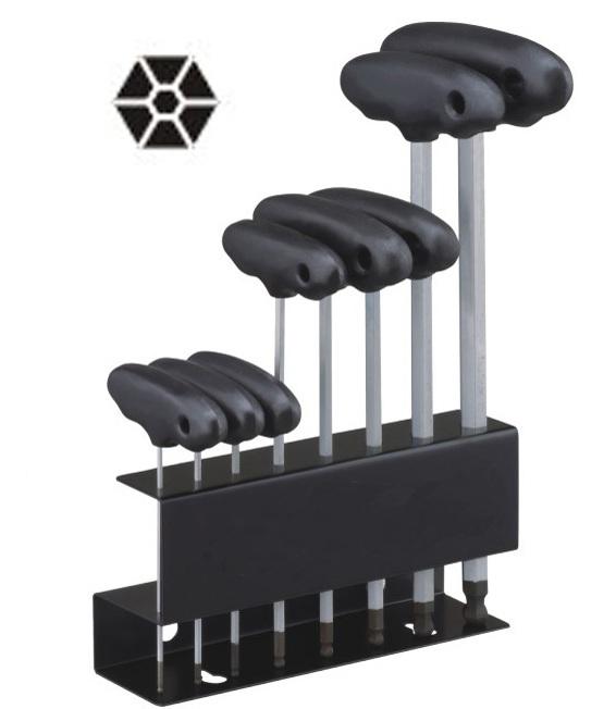 8 Pcs T-3 Handle Hex Key Wrench Set