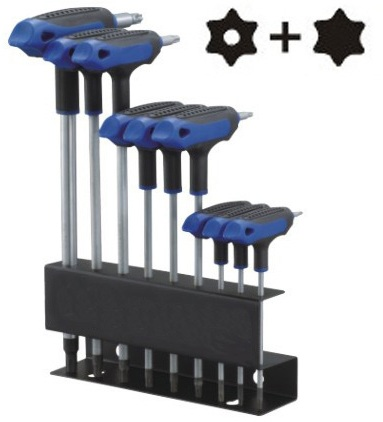 9 Pcs T-10 Handle Tamper Star + star Key Wrench Set