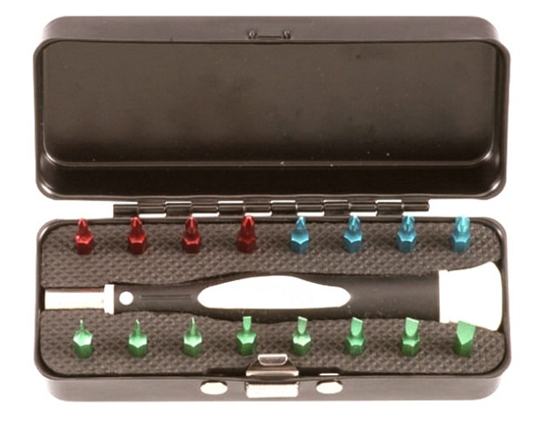 17Pcs Metal Box Micro-Painting Precision Bits Set