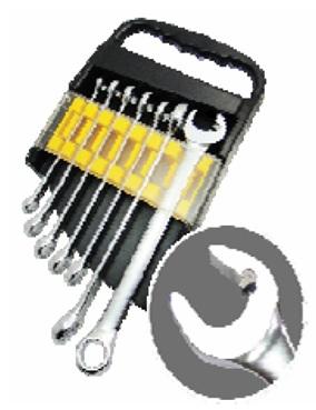 7PCS Quick-Release Open-End Ratchet Wrench Set